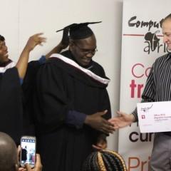 Langelihle Dladla receives his hood