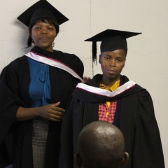 Thembile Msibi receives her hood
