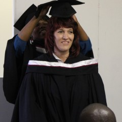Ansie Marais receives her hood